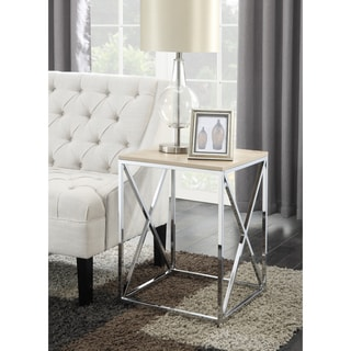 Convenience Concepts Chrome Belaire End Table