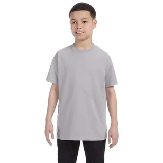 Jerzees Boys' Silver Cotton Heavyweight Blend T-shirt