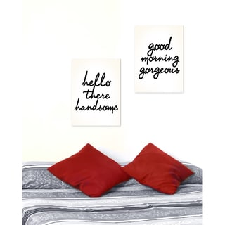 Stupell lulusimonSTUDIO 'Hello There Good Morning' 2-piece Stretched Canvas Wall Art Set