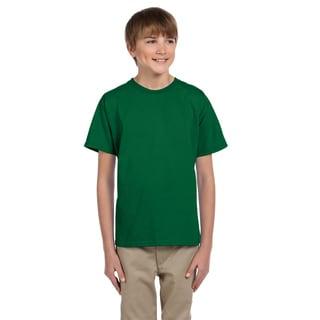 Fruit Of The Loom Boys' Clover Green Heavy Cotton T-Shirt