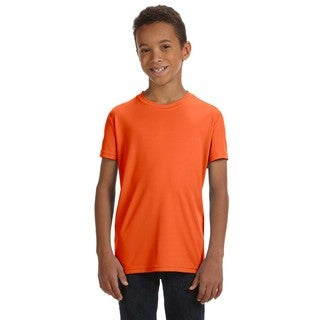 For Team 365 Performance Boys' Sport Orange Short-sleeve T-shirt