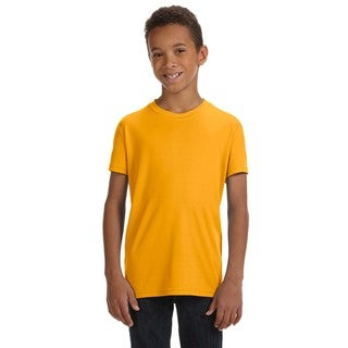 For Team 365 Boys' Sport Athletic Gold Short-sleeve Performance T-shirt