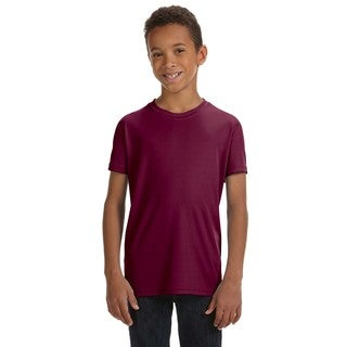 For Team 365 Boys' Maroon Performance Short-Sleeve Sport T-Shirt