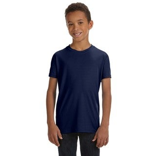 Boys' Team 365 Performance Sport Navy Polyester Short-sleeve T-shirt