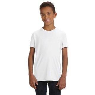 For Team Boys' 365 Performance White Short-sleeve T-Shirt