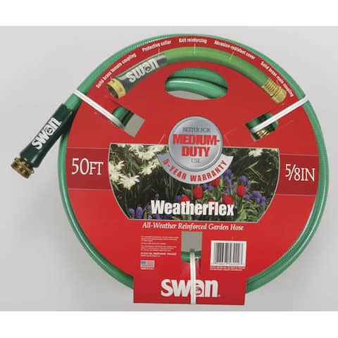 Swan Hose SNWF58050 50 feet WeatherFlex All Weather Reinforced Garden Hose