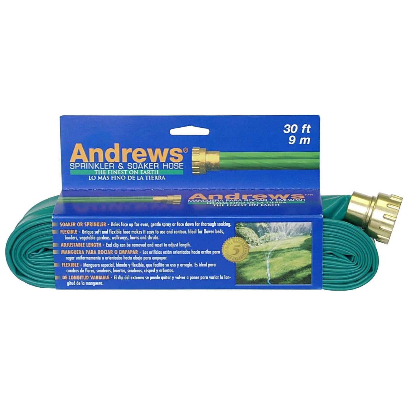 Andrews 10-12346 30 feet 2 Tube Sprinkler & Soaker Hose (...