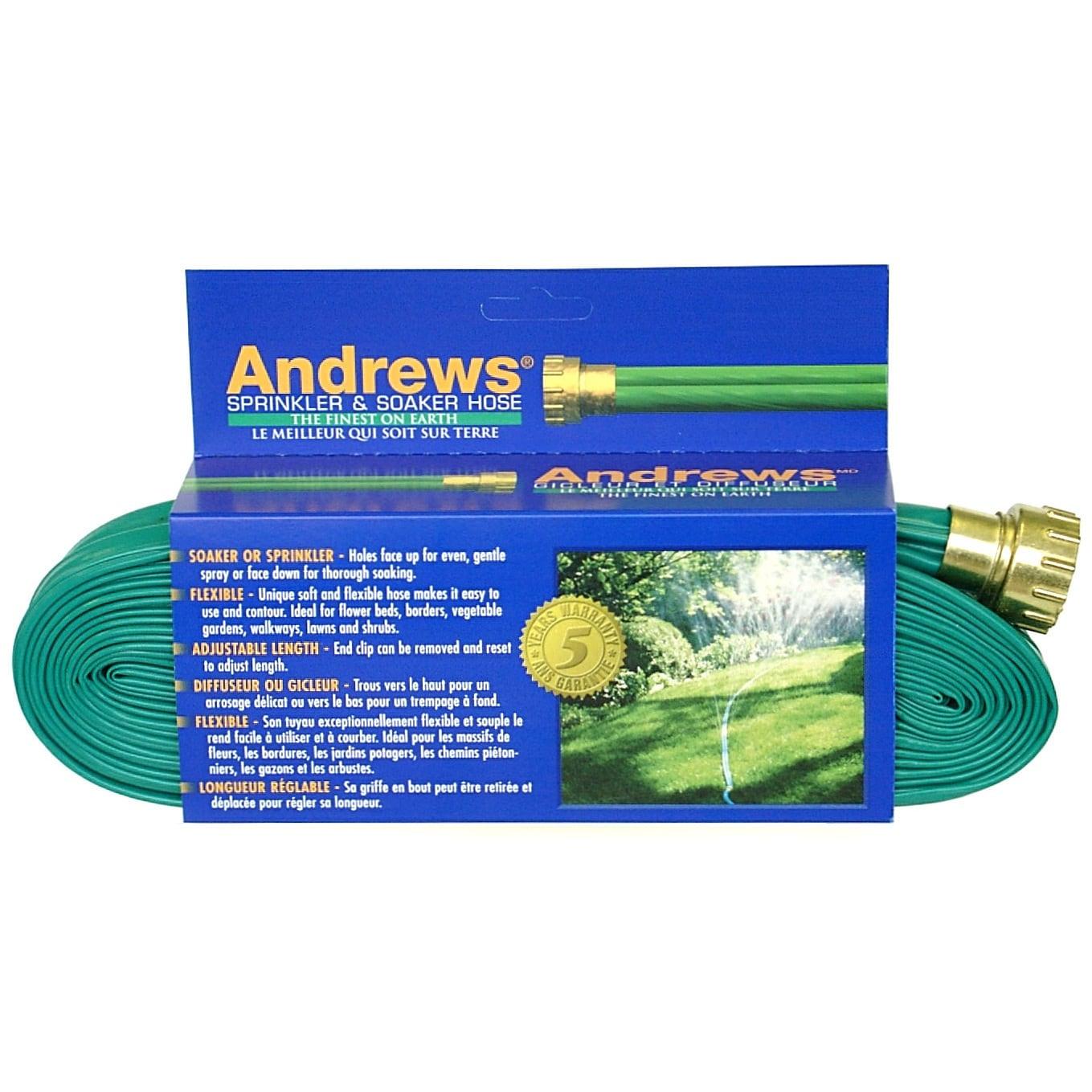 Andrews 10-12349 100 feet 2 Tube Sprinkler & Soaker Hose ...