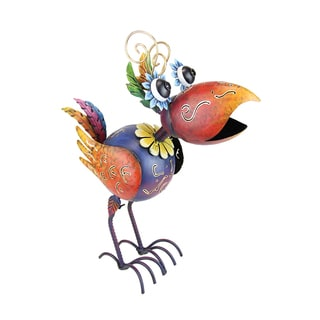 Exhart Krazy Klucker Metal 20-inch Bird Garden Statue