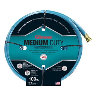 Gilmour 15058100 5/8 inches x 100 feet 4 Ply Medium Duty Garden Hose