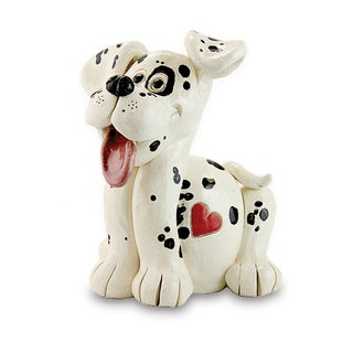 Resin 7-inches Hand-painted Pence Pet Dog Statue