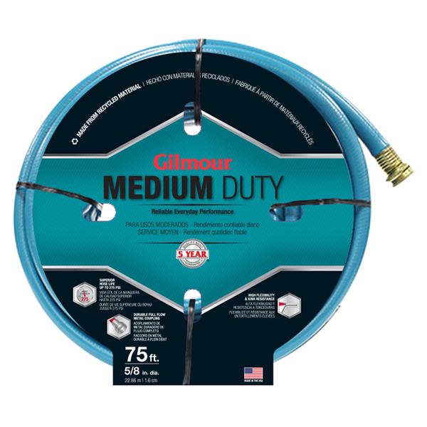 Gilmour 15058075 5/8 inches x 75 feet 4 Ply Medium Duty Garden Hose