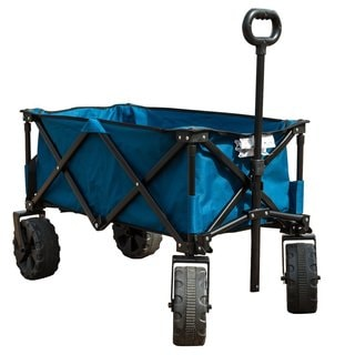 TimberRidge Blue Stainless Steel Folding Camping Wagon/Cart