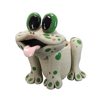 Exhart Pence Pets Resin 6-inch Frog Planter