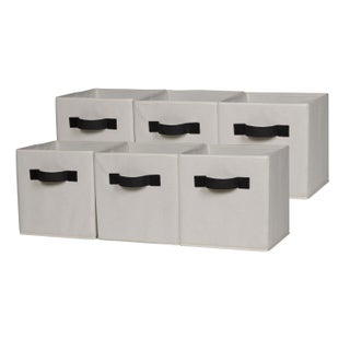 OneSpace Foldable Cloth Storage Cube Set (Pack of 6) (Option: Beige)