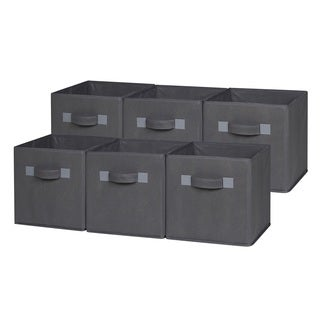 OneSpace Foldable Cloth Storage Cube Set (Pack of 6)