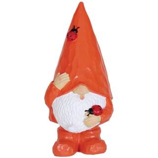 Orange Resin Woodland Gnome Statue