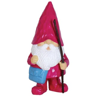 Exhart Magenta Resin Woodland Gnome Statue
