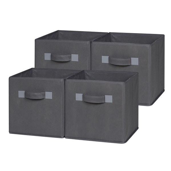 Genial OneSpace Foldable Cloth Storage Cube Set (Pack Of 4)