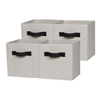 OneSpace Foldable Cloth Storage Cube Set (Pack of 4) (Option: Beige)