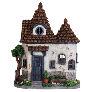 Exhart 12.5-inch Solar Pinecone Cottage