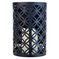 Black Metal Wall Sconce with Flameless LED Candle and Timer