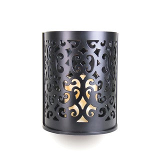 Black Wall Sconce with Flameless LED Candle with Timer