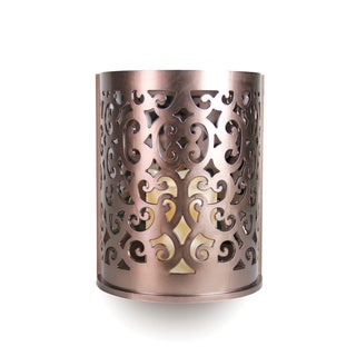 Exhart Bronze Wall Sconce with Flameless LED Candle and Timer