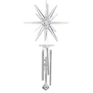 Exhart White Solar Star Wind Chime
