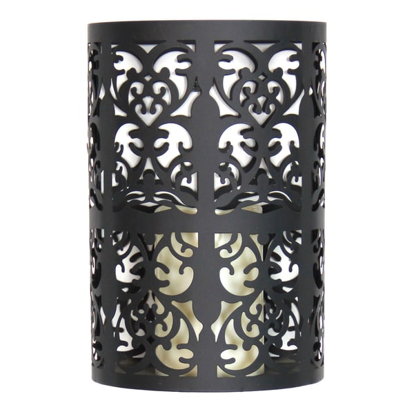 Wall Sconce With Led Timer Candle : Exhart Black Metal Flameless LED Candle Wall Sconce With Timer - Free Shipping On Orders Over ...