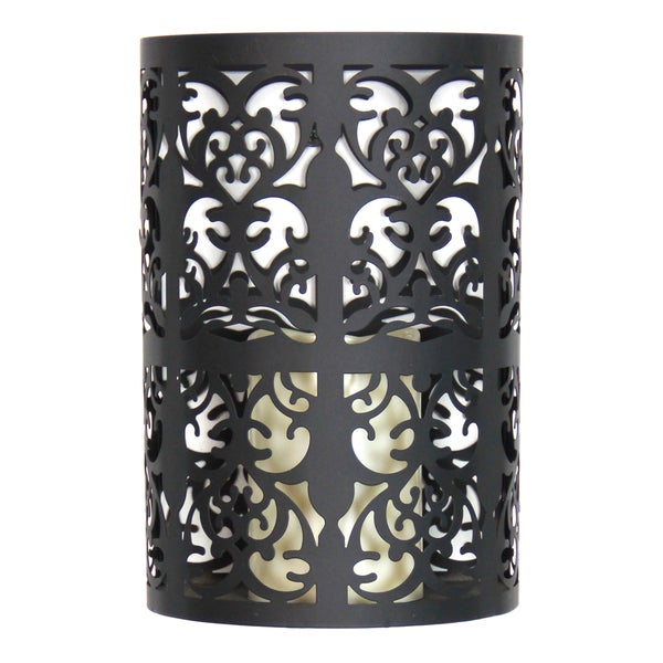 Exhart Black Metal Flameless LED Candle Wall Sconce With Timer - Free Shipping On Orders Over ...