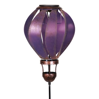 Solar Purple Hot Air Balloon Garden Stake