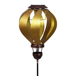 Solar Gold Hot Air Balloon Garden Stake