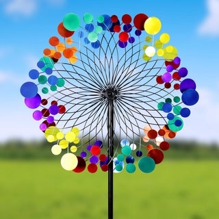 24-inch Starry Night Giant Kinetic Garden Stake