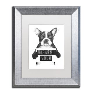 Balazs Solti 'Being Normal Is Boring' Matted Framed Art