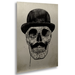 Balazs Solti 'Gentlemen Never Die' Floating Brushed Aluminum Art