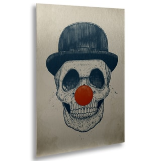 Balazs Solti 'Dead Clown' Floating Brushed Aluminum Art
