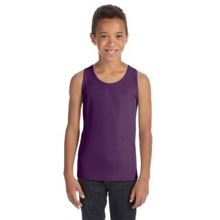 For Team Boys' 365 Purple Polyester Mesh Tank Sport