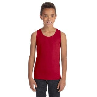 Team 365 Boys' Red Polyester Mesh Sport Tank