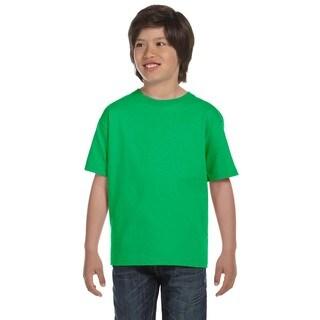Gildan Boys' Electric Green Dryblend T-shirt