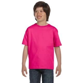 Gilden Dryblend Boys' Heliconia T-shirt|https://ak1.ostkcdn.com/images/products/12308255/P19142992.jpg?impolicy=medium