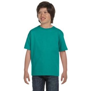 Gildan Dryblend Boys' Jade Dome Polyester/Cotton T-Shirt