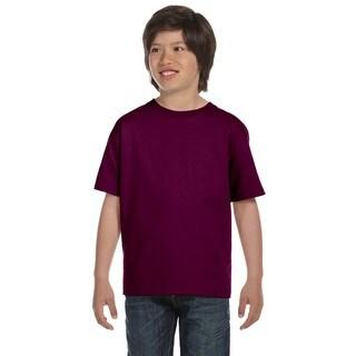 Gildan Boys' Maroon Dryblend T-shirt