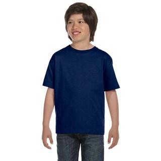 Dryblend Boys' Navy Blue Cotton/Polyester T-shirt