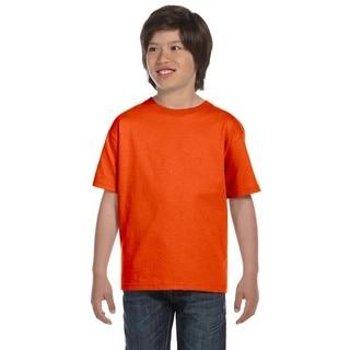 Gildan Boys' Dryblend Orange Polyester and Cotton T-shirt