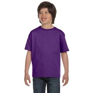 Gildan Boys' Purple Dryblend T-Shirt