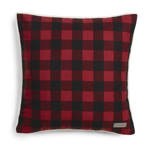 Eddie Bauer Cabin Plaid Flannel 20-inch Decorative Pillow