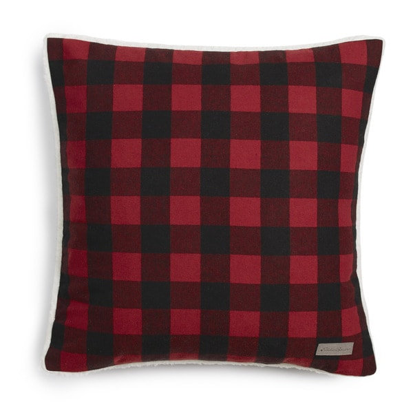 Eddie Bauer Cabin Plaid Flannel 20-inch Decorative Pillow. Opens flyout.
