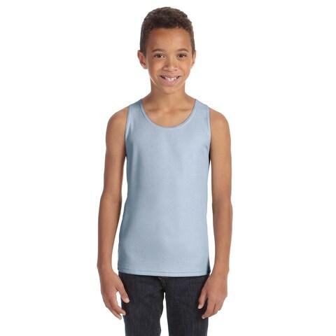 For Team Boys' 365 Light Blue Polyester Mesh Sport Tank