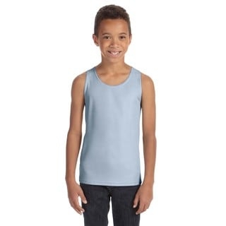 For Team Boys' 365 Light Blue Polyester Mesh Sport Tank